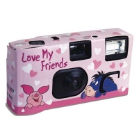 Customised flash disposable camera with Fuji film